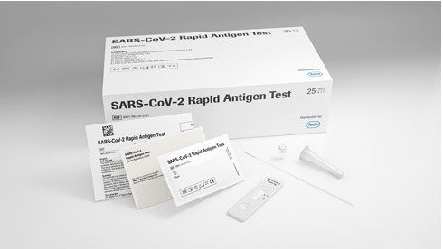 ROCHE - SARS-CoV-2 Rapid Antigen Test Antigenico Rapido AG Rinofaringeo valido GREEN PASS - 25 test